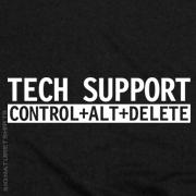 TECH SUPPORT Geek T-shirt